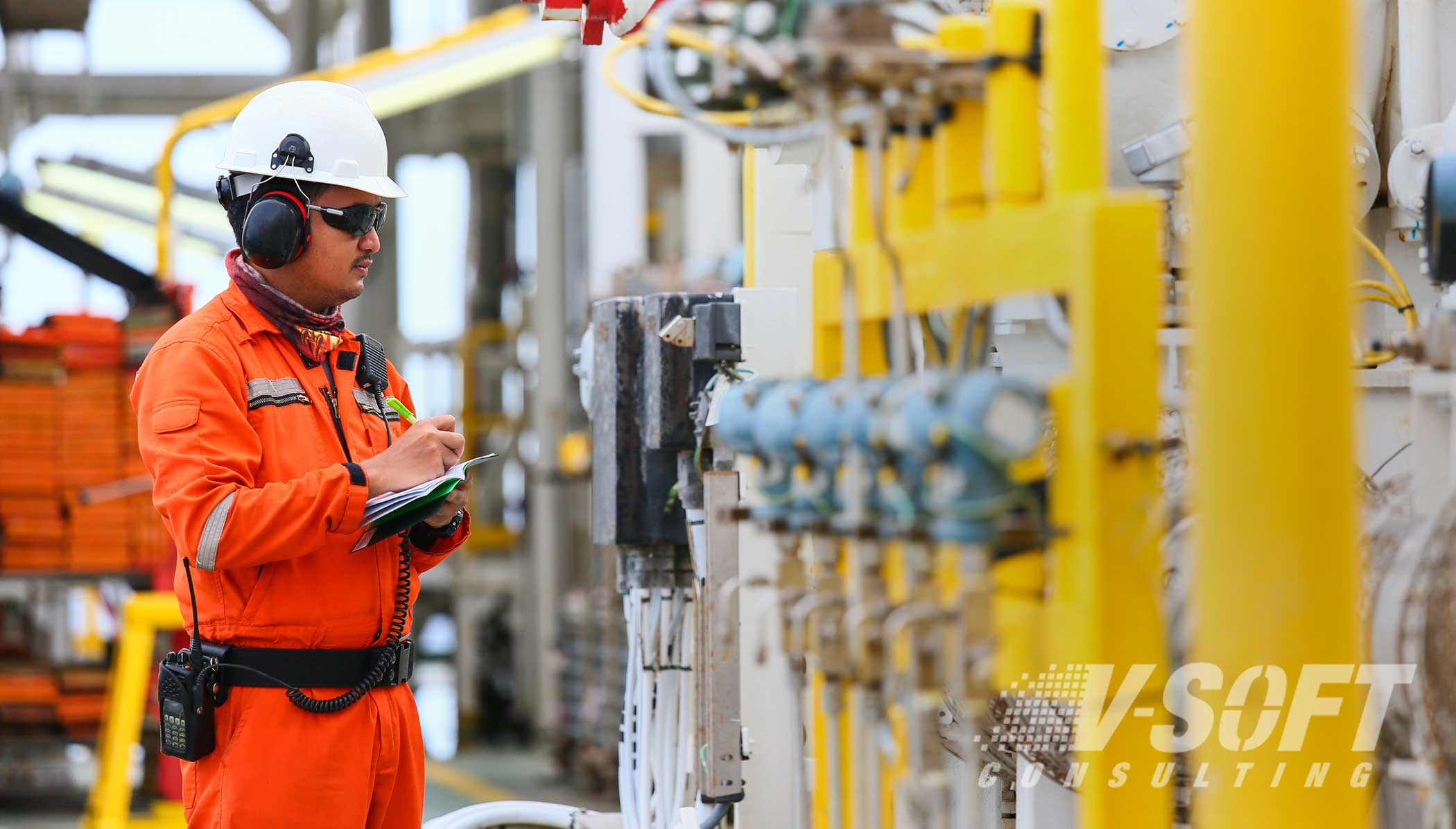 AI Detects and Oil Rig Operator Wearing Personal Protective Equipment