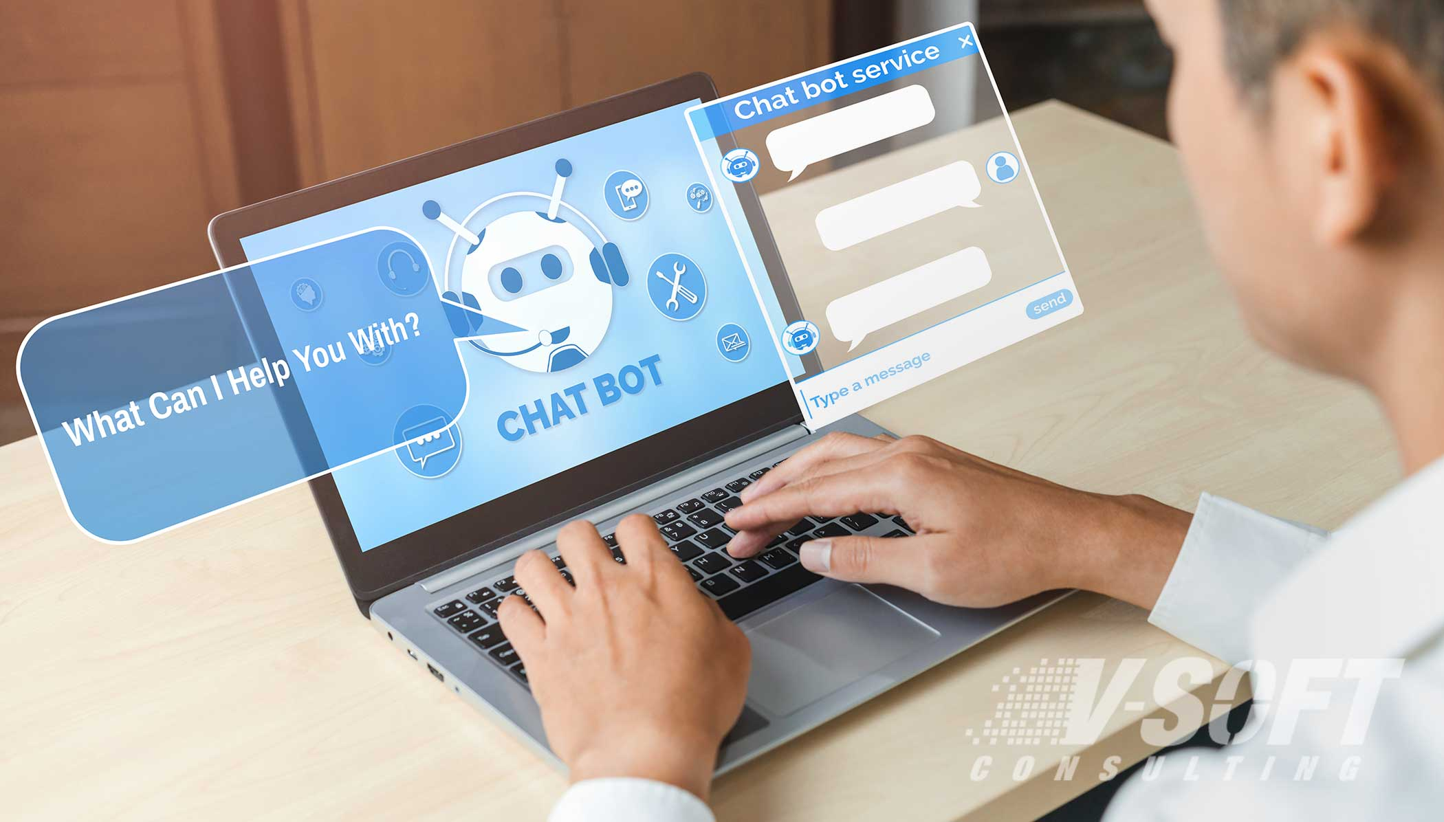 Employee engaging with HR Chatbot