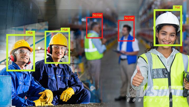 Computer-Vision System detects PPE of Employees
