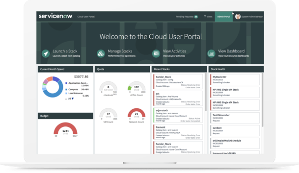 The ServiceNow Hybrid Cloud Management platform delivers advanced automation and workflow in a single system  to improve operation management.