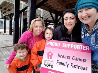 V-Soft consulting proposal manager Melissa Barnett at Little Pink Houses of Hope Retreat with her family