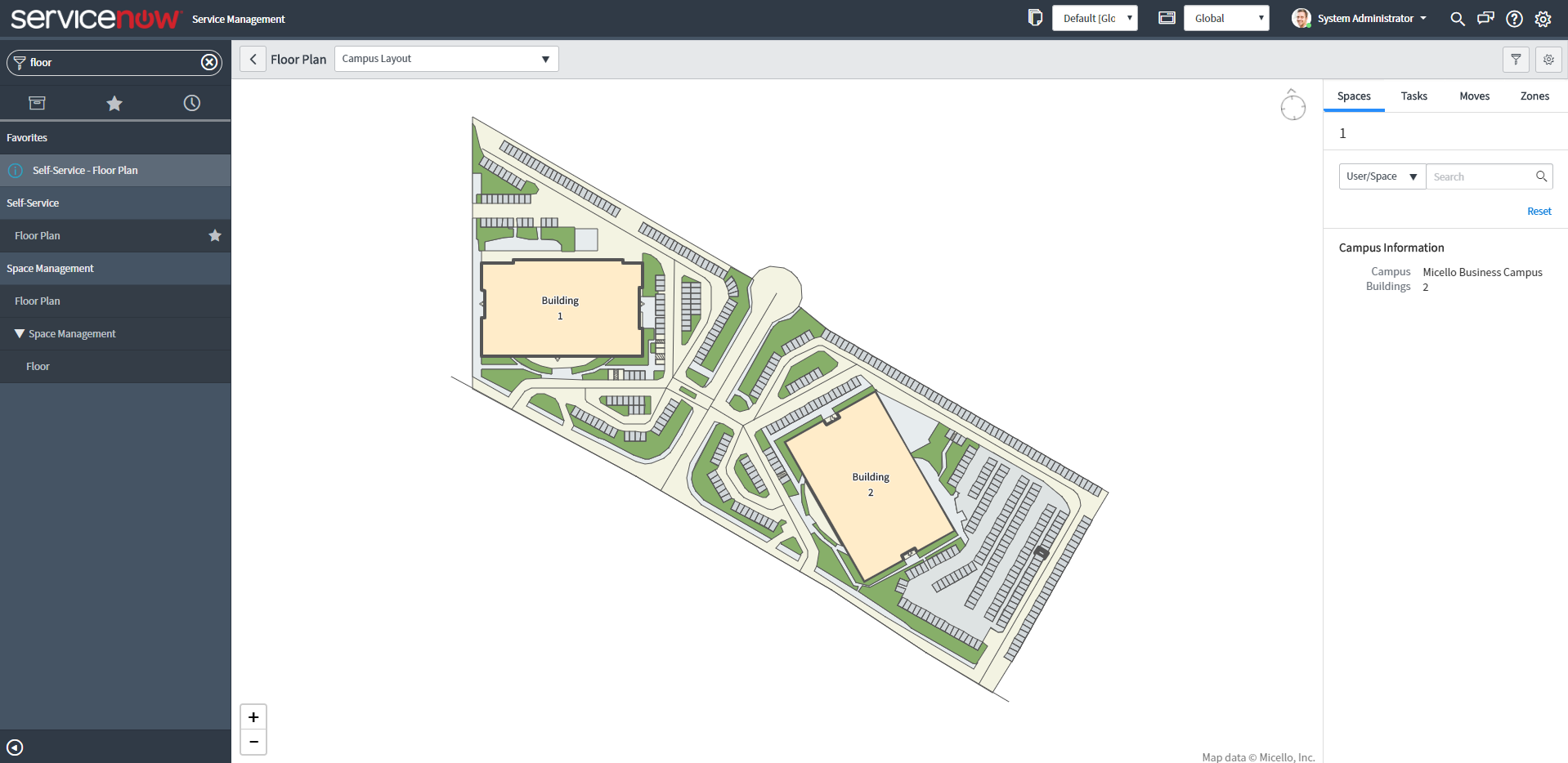 Interactive and Overall Facility Site Maps by the Now Platform