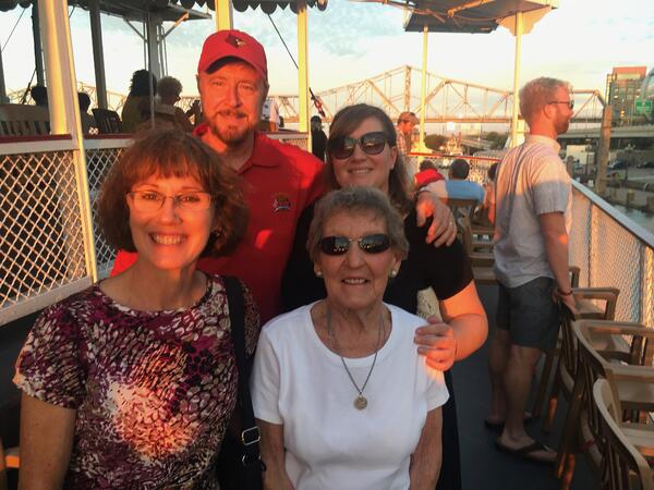 Lori with Family Gilda's Club Kentuckiana