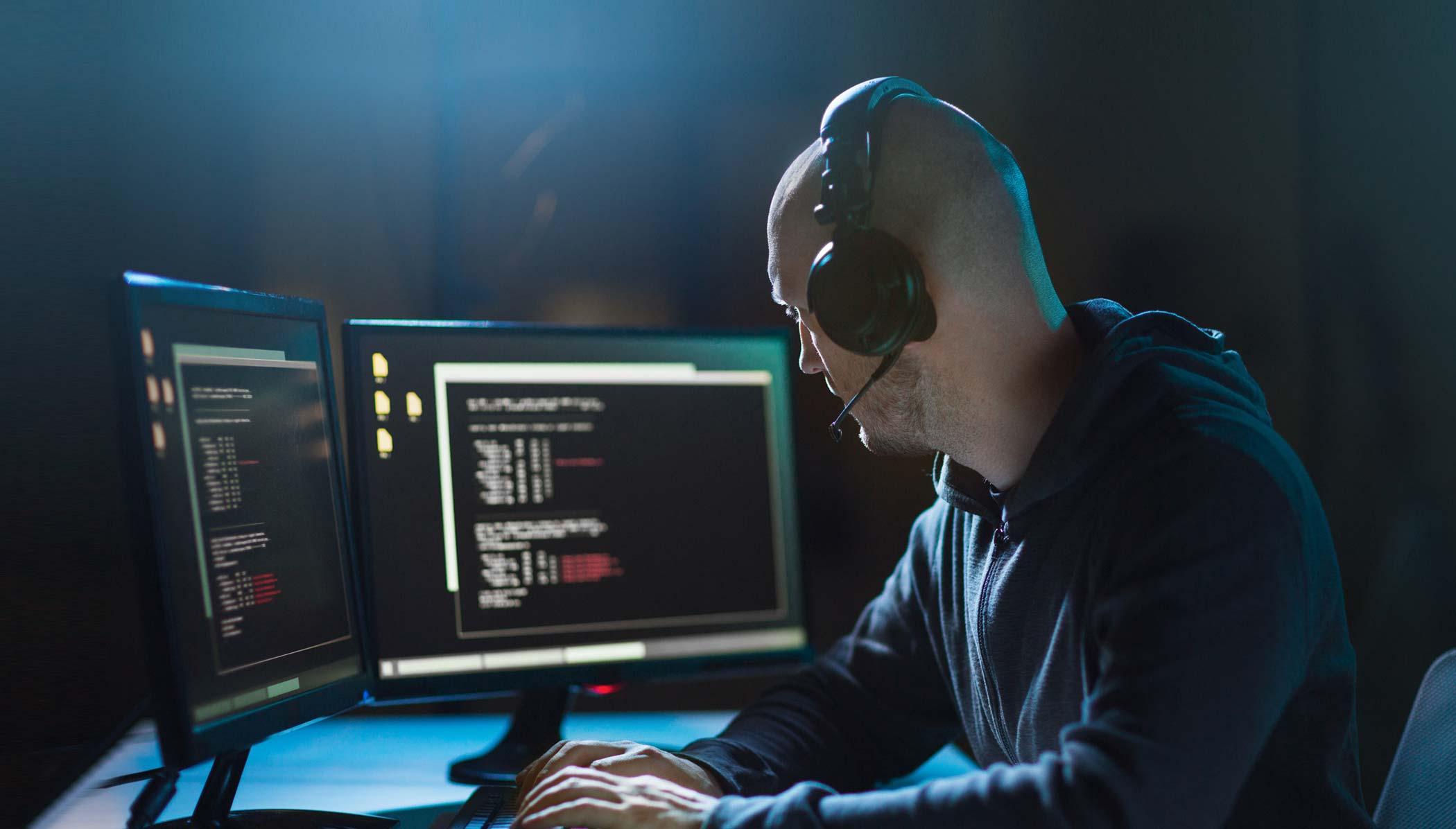 cybercrime male hacker