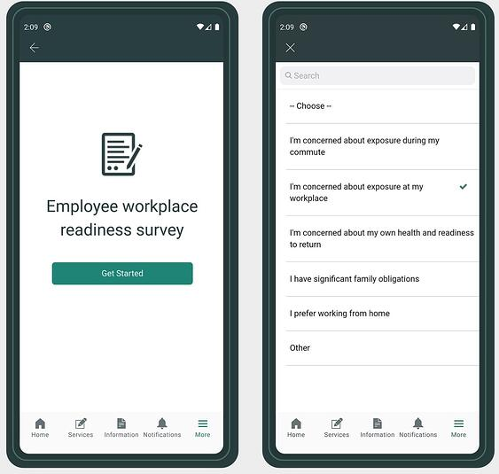 ServiceNow Employee readiness surveys app