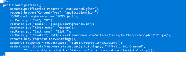 Example code of making changes to serving using post()