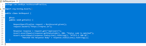 Example of Read Operation using get()