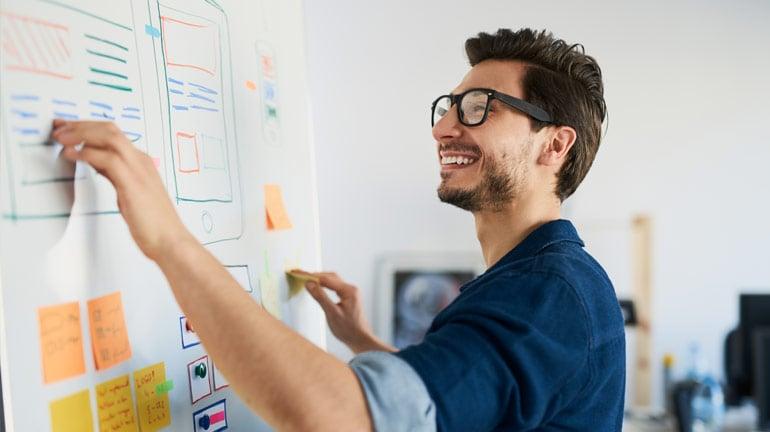 UX design Professional working design process