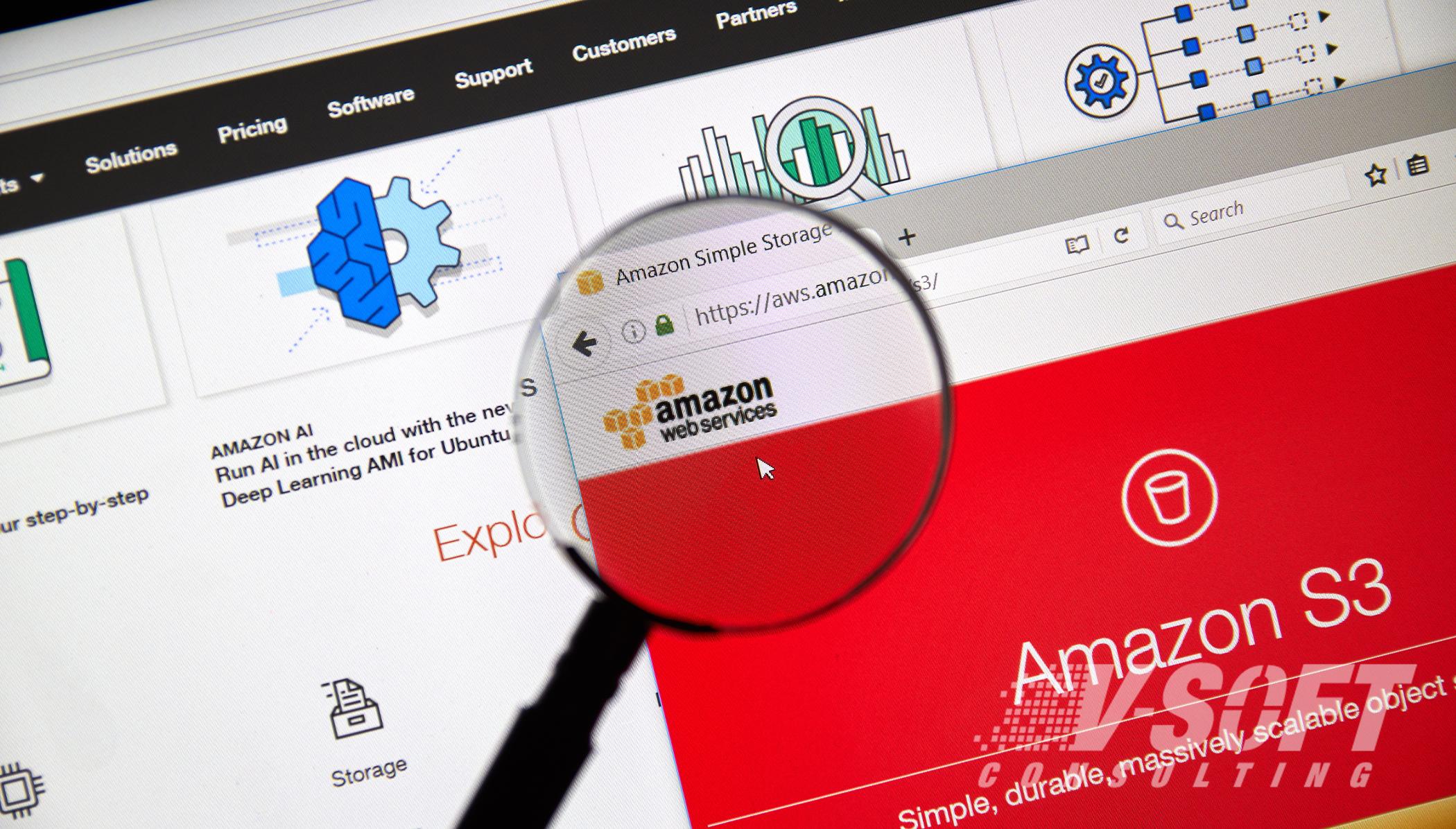 Amazon S3 cloud storage capabilities