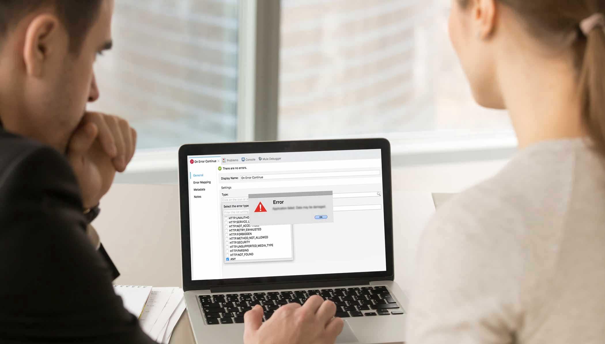 MuleSoft professionals working on Mule4 error handling