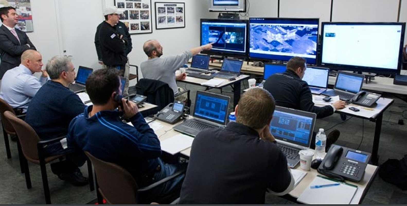 cyber threat image of computer security room for business