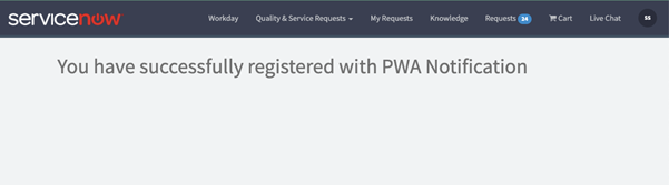 Registration page module for ServiceNow Firebase Integration